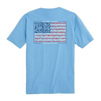 We The People Flag T-Shirt in Ocean Channel by Southern Tide