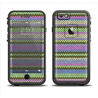 The Colorful Knit Pattern Apple iPhone 6/6s LifeProof Fre Case Skin Set