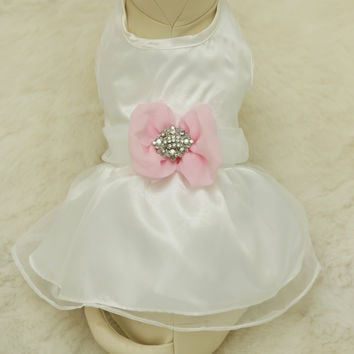 Pink Dog Dress,  Pet wedding accessory,dog clothing
