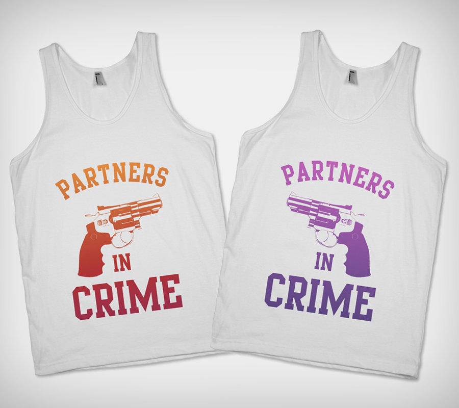 Best Friend Quotes For Shirts: Partners In Crime Best Friend Shirts - From Skreened