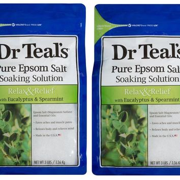 Dr Teal's Pure Epsom Salt Solution Relax And Relief  3 Lb x 2 Bags