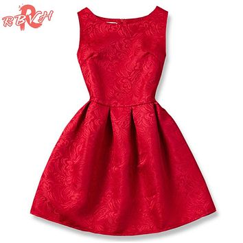 Summer Princess Girl Dress Red Kids Clothes Dresses for Girl Children Clothing Teenager Party Costumes 9 10 11 12 Year