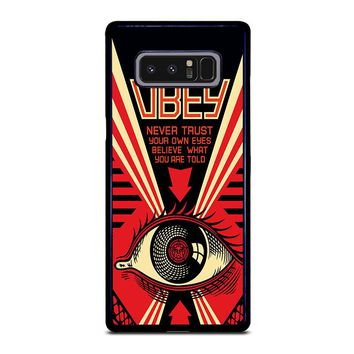 OBEY NEVER TRUST YOUR OWN EYES Samsung Galaxy Note 8 Case Cover