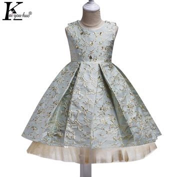 Summer Dress 2017 Girls Clothes Sleeveless Princess Wedding Dress 4 5 6 7 8 9 10 Year Kids Party Tutu Dresses For Girls Costumes