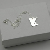 Minnesota Necklace - Sterling Silver