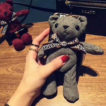 Teddy bear phone case for iphone 6 6s 6 plus 6s plus + Nice gift box 072702