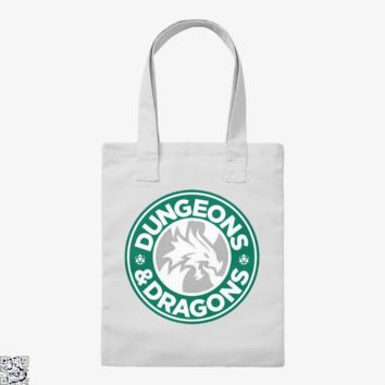 Starbucks Parody Mashup, Dragon And Dungeon Tote Bag