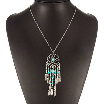 Native American  Dreamcatcher Necklace
