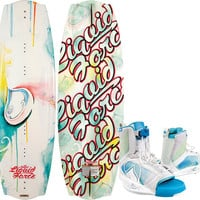 Angel Wakeboard, 130cm, Size 4-7 Bindings - Liquid Force