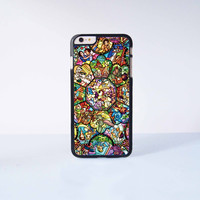 Disney All Characters Stained Glass Plastic Case Cover for Apple iPhone 6 Plus 4 4s 5 5s 5c 6