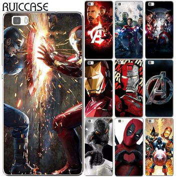 Deadpool Dead pool Taco Spider Iron Man Hero Case For Coque Huawei P8 P9 P10 P20 Lite Plus Mate 10 Pro Y5 Y6 II Y3 Y7 2017 Honor 9 6X 7X Avengers Cover AT_70_6