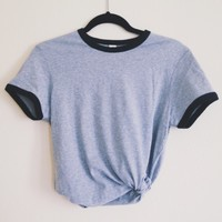 Basic Gray Ringer Tee
