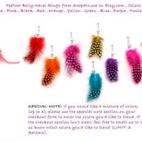 Soft And Sexy Feather Belly Navel Ring, Color Choices Available