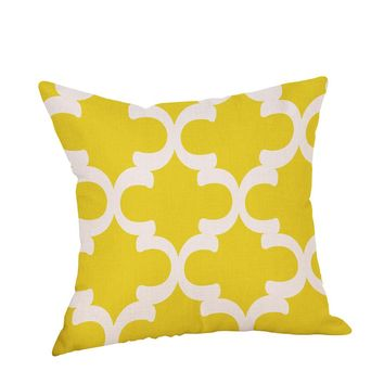 Ouneed Decorative Pillow Case Mustard Yellow Geometric Fall Autumn *30 poster   travesseiro C0613