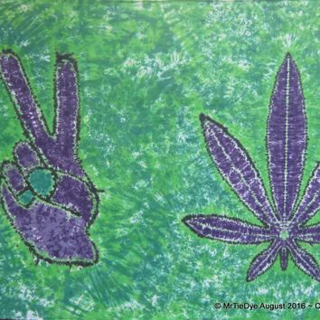 Tie-Dye Peace Sign / Pot Leaf Tapestry