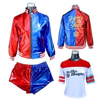 NoEnName Free shipping  Suicide Squad Harley Quinn Monster Suit New Year/Party  Harley Quinn Cosplay Costume  jacket costumes