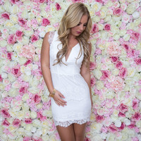 Skylar Lace Dress In White