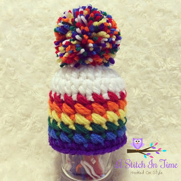 Rainbow Beanie / Hat Photo Prop For Newborn-Adult Sizes