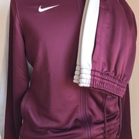 New $250 Nike Men's Sport Suit Burgundy Size S