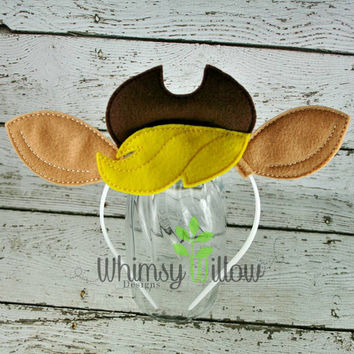 Apple J Pony Headband Ears ITH Embroidery Design