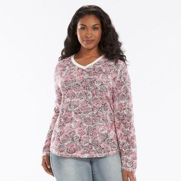 MDIGPL3 SONOMA life style Ribbed Top - Women's Plus Size Size