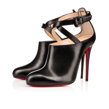LOURONDA KING CALF/SHINY CALF, BLACK, Calf, Women Shoes, Louboutin.