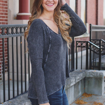 Fall Layers Top - Charcoal