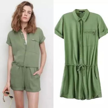 Summer Cotton Shaped Romper [4915021060]