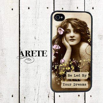 Be Led by Your Dreams iPhone Case, iPhone 4 4s , Vintage Bohemian Chic - iPhone 5 Case