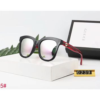 Gucci New Popular Women Men Personality Sun Shades Eyeglasses Glasses Sunglasses 5# Black/Red Stripe Frame I-A-SDYJ