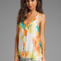 Ella Moss Hibiscus Floral Silk Tank in White from REVOLVEclothing.com