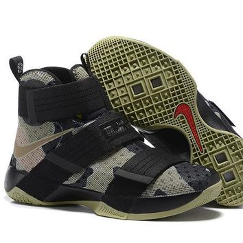 Nike LeBron Soldier 10 EP Camo Sneaker US7-12