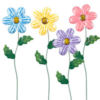 "Bulk Metal Flower Garden Stakes, 24"" at DollarTree.com"