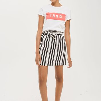 Striped Linen Paper Bag Skirt | Topshop
