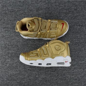 Supreme x Nike Air More Uptempo Gold 902290-700 Size 36---46