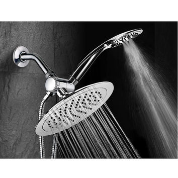 "High-Fashion 8"" Slimline Design 3-Way Rainfall Shower Head Combo"