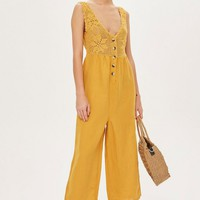 Crochet Button Jumpsuit - New In Fashion - New In