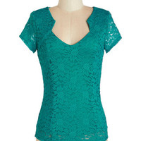 Vintage Inspired Short Sleeves Lacy Afternoon Top