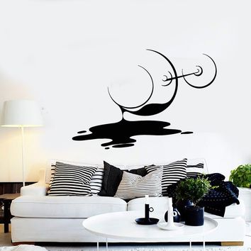 Vinyl Wall Decal, Spilled Glass Of Wine, Various Sizes and Colors FREE SINGLE-ITEM U.S. SHIPPING*