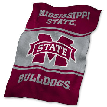 Mississippi State Bulldogs NCAA UltraSoft Fleece Throw Blanket (84in x 54in)