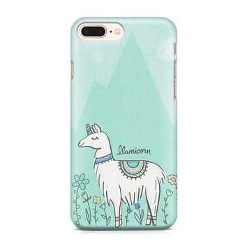 Llamicorn Phone Case, Llama Phone Case, Llama Unicorn Phone Case, Cute Mythical Creature Phone Case, iPhone 8, Samsung Galaxy S8
