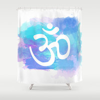 Om Shower Curtain by Ashley Hillman