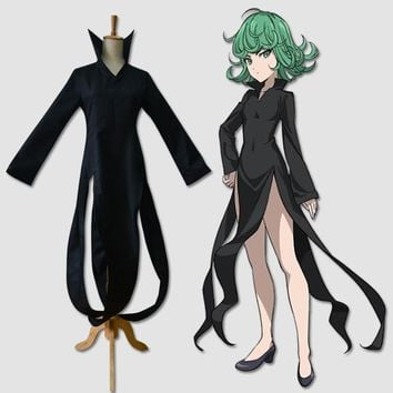 Cute Unicorn Anime One Punch Man Tatsumaki Cosplay Costume Gothic Dress girls clothes Halloween Costumes for women