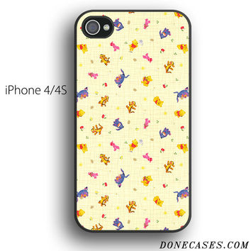 winnie the pooh and friends pattern case for iPhone 4[S]