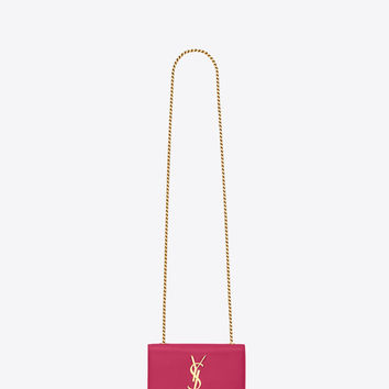 SAINT LAURENT CLASSIC SMALL MONOGRAM SAINT LAURENT SATCHEL IN OLD ROSE GRAIN DE POUDRE TEXTURED LEATHER | YSL.COM