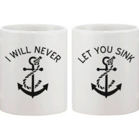 Never Let You Sink Coffee Mugs