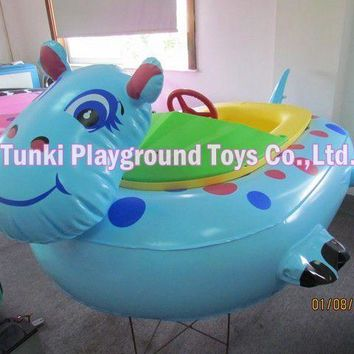 lovely animal cartoon electric bumper boat for kids