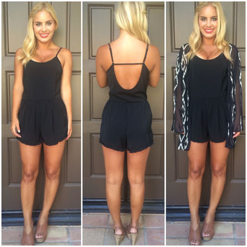 A Love To Remember Romper - BLACK