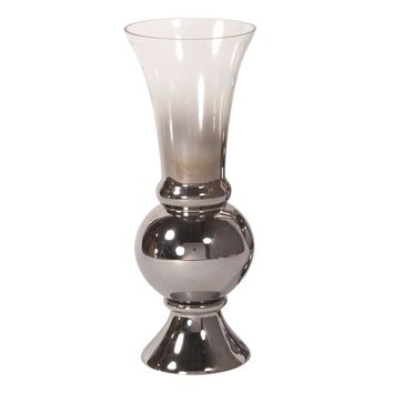 Smokey Glass Fluted Small Vase