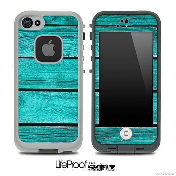 Trendy Green Wood V3 Skin for the iPhone 5 or 4/4s LifeProof Case